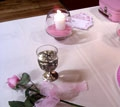 ceremony items candle goblet and rose