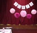 bunting for ceremony area