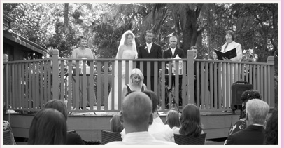 wedding ceremony at private house mount tamborine
