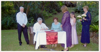 wedding ceremony at Songbirds Rainforest Retreat Tamborine Mountain