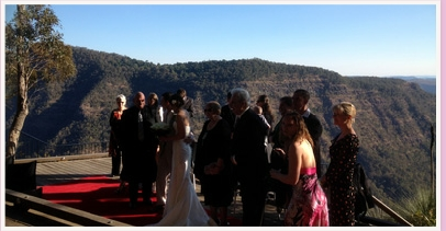 wedding ceremony at moonlight crag o'reilly's rainforest retreat