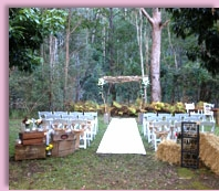 ceremony venue at Polly's Country Kitchen