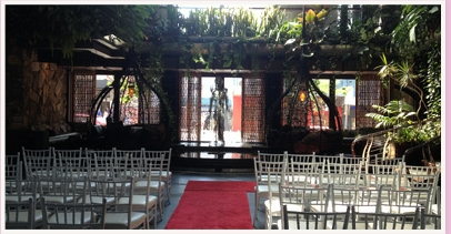 wedding ceremony area at Cloudland Fortitude Valley Queensland