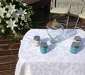sand ceremony items on table
