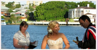 wedding ceremony at Riverside Receptions New Farm Brisbane