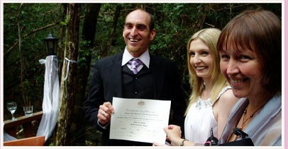 wedding ceremony at The Mouses House Springbrook Gold Coast