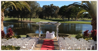 palmer's colonial golf course robina gold coast wedding ceremony area