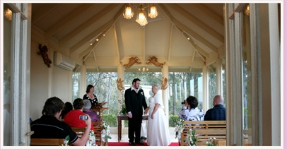 wedding ceremony at private sanctuary chapel gold coast