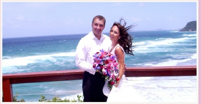 wedding photos at lookout at Miami Gold Coast Queensland